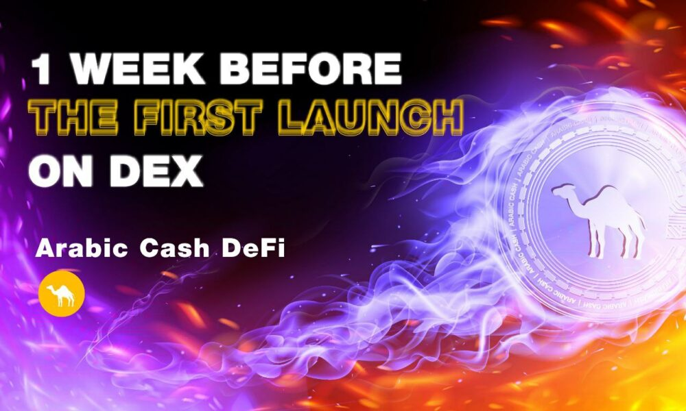 Only 3 weeks to x5: DeFi Arabic Cash goes to first exchange at $1