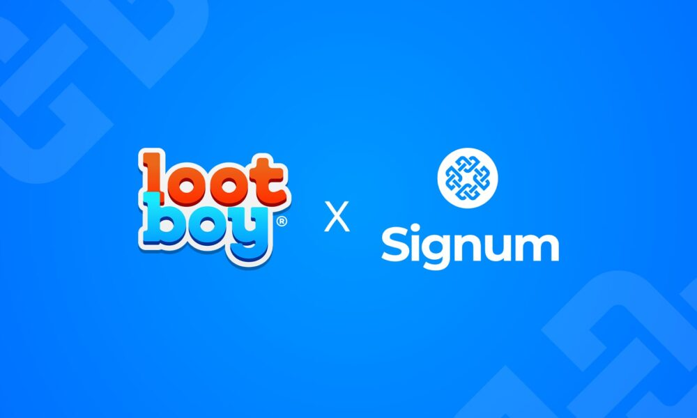 Lootboy and Signum reframe gaming industry through sustainable blockchain